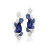18k White Gold Giardini Vento Atelier Earrings with Tanzanite, Blue Sapphire Pavé and Diamonds