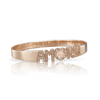 18k Rose Gold Amore Bracelet with Rose Quartz, White and Champagne Diamonds