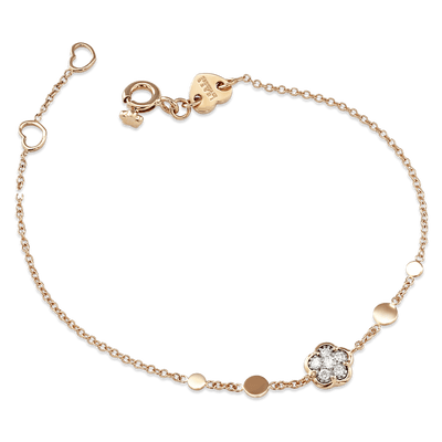 White and rose gold bracelet and diamonds