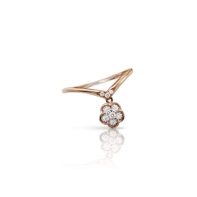 18k Rose Gold Fioremì Ring with Diamonds