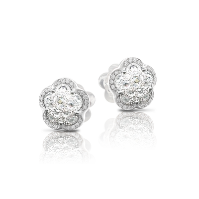 White gold earrings with white diamonds
