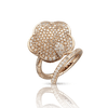 18k Rose Gold Joli Ring with White and Champagne Diamonds