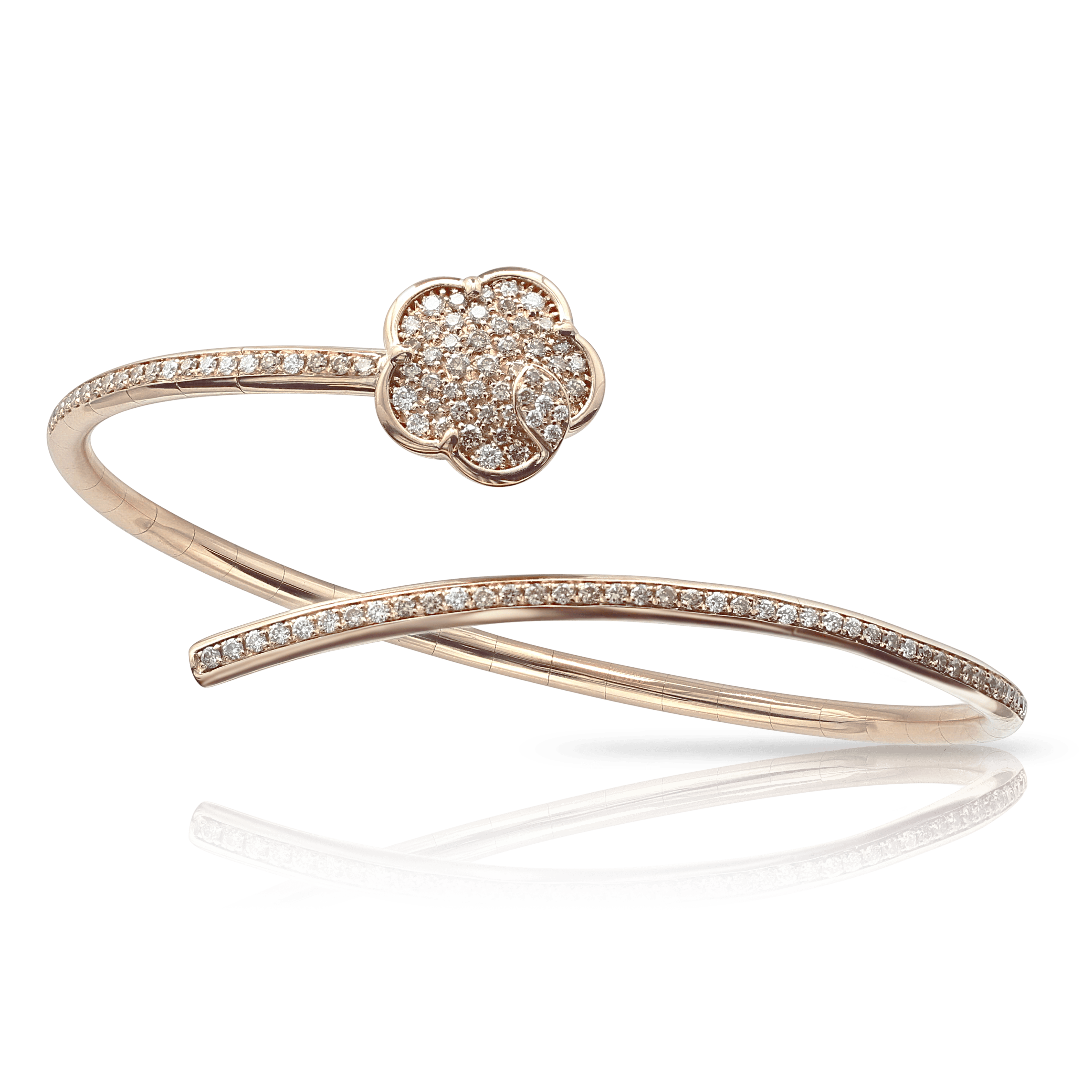 18k Rose Gold Joli Bracelet with White and Champagne Diamonds