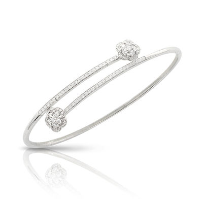 NEW 18k White Gold Figlia dei Fiori Bracelet with Diamonds