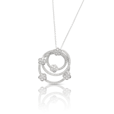NEW 18k White Gold Figlia dei Fiori Necklace with Diamonds