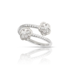 NEW 18k White Gold Figlia dei Fiori Ring with Diamonds