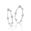 NEW 18k White Gold Figlia dei Fiori Earrings with Diamonds