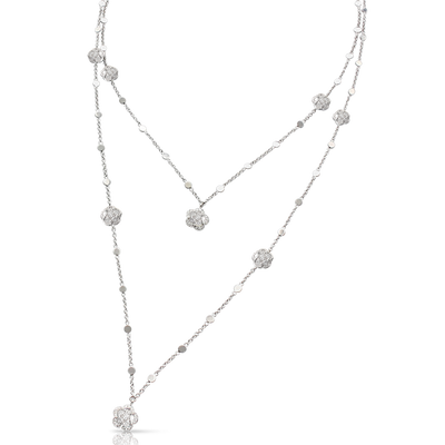 18k White Gold Figlia dei Fiori Necklace with Diamonds