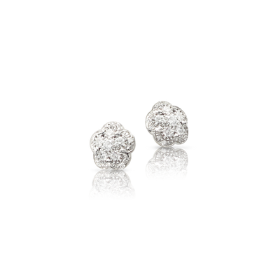 18k White Gold Figlia dei Fiori Earrings with Diamonds