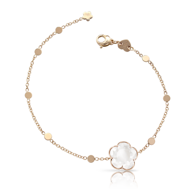 NEW 18k Rose Gold Bon Ton Bracelet with Milky Quartz