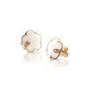 18k Rose Gold Petit Joli Earrings with White Agate, White and Champagne Diamonds