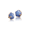 NEW 18k Rose Gold Petit Joli Earrings with White Agate and Lapis Lazuli Doublet, White and Champagne Diamonds