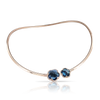 NEW 18k Rose Gold Bon Ton Necklace with London Blue Topaz and Diamonds