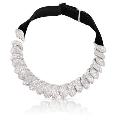 18k White Gold and Velvet Aleluiá Necklace with Diamonds