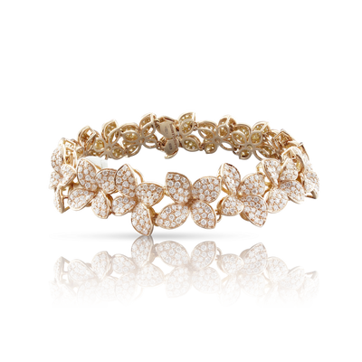 NEW 18k Rose Gold Goddess Garden Bracelet with Champagne Diamonds