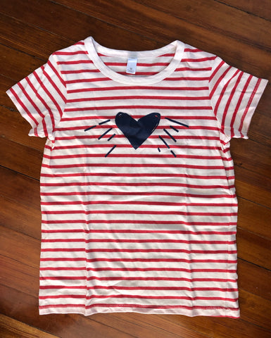 Tee - Red & White Stripe