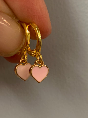 Earrings - Teeny Pink Huggies