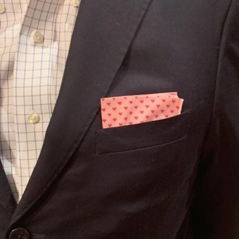 Lonesome Traveler Heart Pocket Square