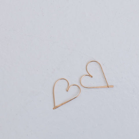 Mighty Oakes Heart Foundation Hoop Earring
