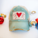 Distressed Aqua Trucker Hat