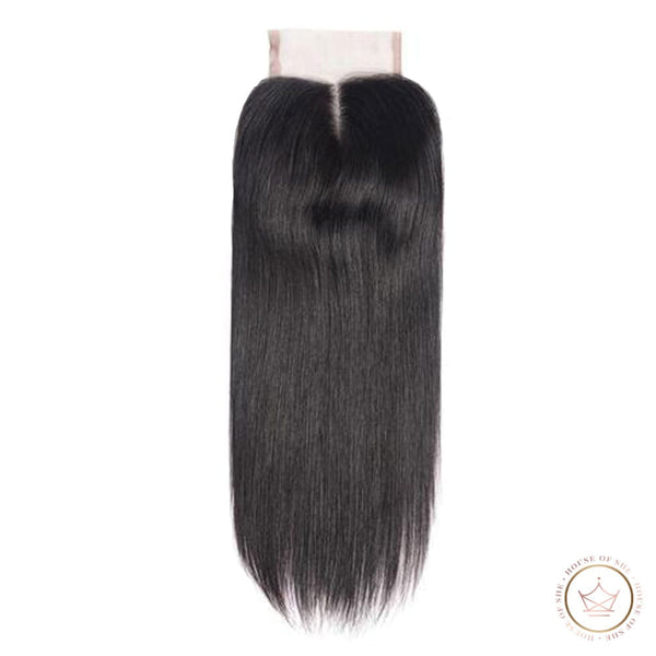 She Platinum Silky Straight Lace Closure