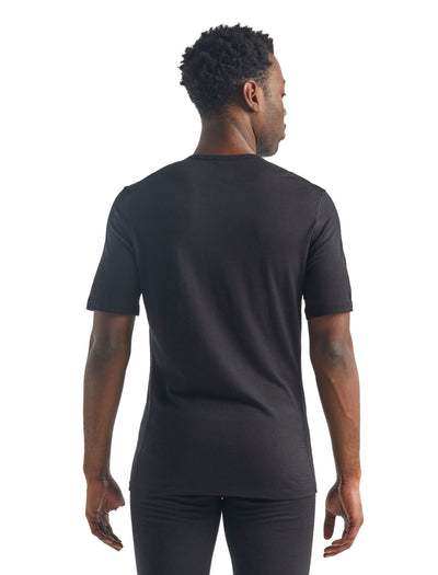 Mens Icebreaker Merino 200 Oasis SS Crewe Thermal Top
