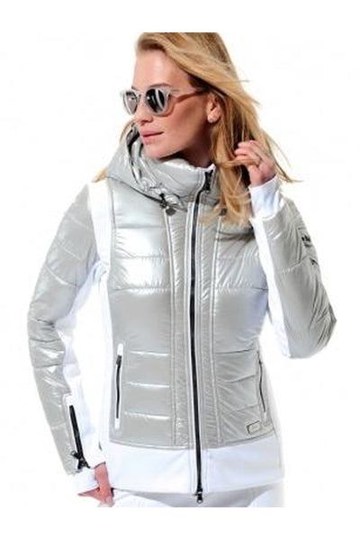 Womens MDC Stretch Jacket Silver/White