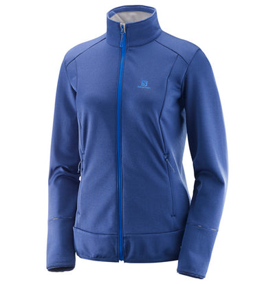 Womens Salomon DISCOVERY FZ Fleece 18