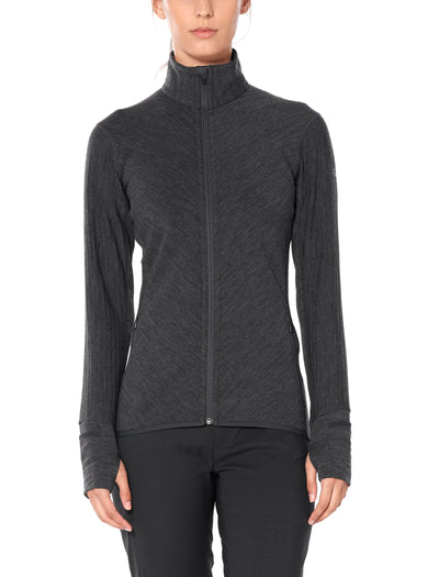 Womens Icebreaker Descender Long Sleeve Full Zip