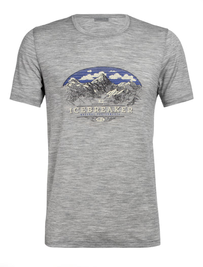Mens Icebreaker Tech Lite Short Sleeve Crew K2 Crest