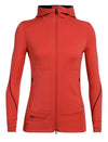 Womens Icebreaker Quantum II Long Sleeve Zip Hood