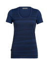 Womens Icebreaker Tech Lite Short Sleeve Scoop 1000 Lines