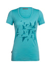 Womens Icebreaker Tech Lite Short Sleeve Scoop Poaka