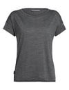 Womens Icebreaker Via Short Sleeve Scoop