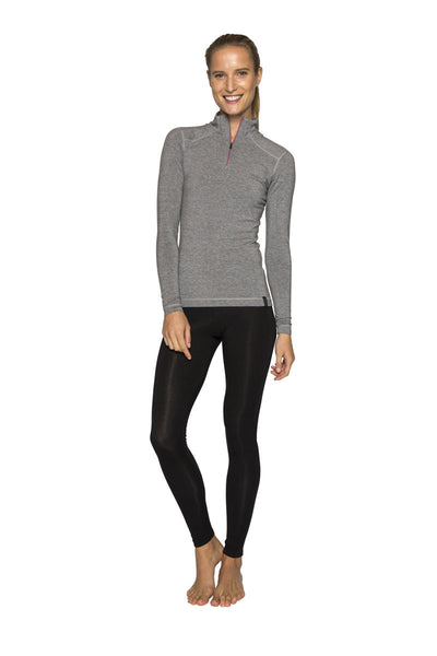 Womens Le Bent Bamboo/Merino 1/2 Zip Thermal Top - 260g/m