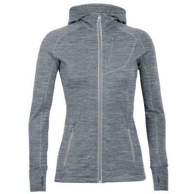 Womens Icebreaker Quantum Long Sleeve Zip Hood
