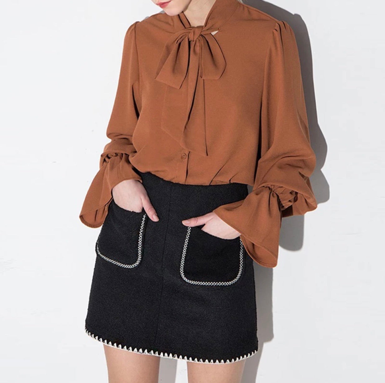 Monarch Puff Blouse
