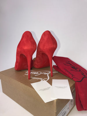 Christian Louboutin Eloise Veau Velours Red Pump