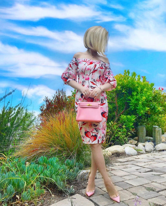 Hibiscus Floral Print Dress