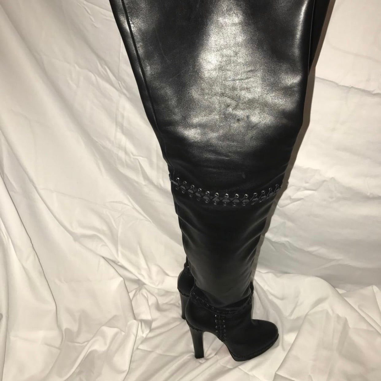 CL Tres Contente Leather Thigh High Boots