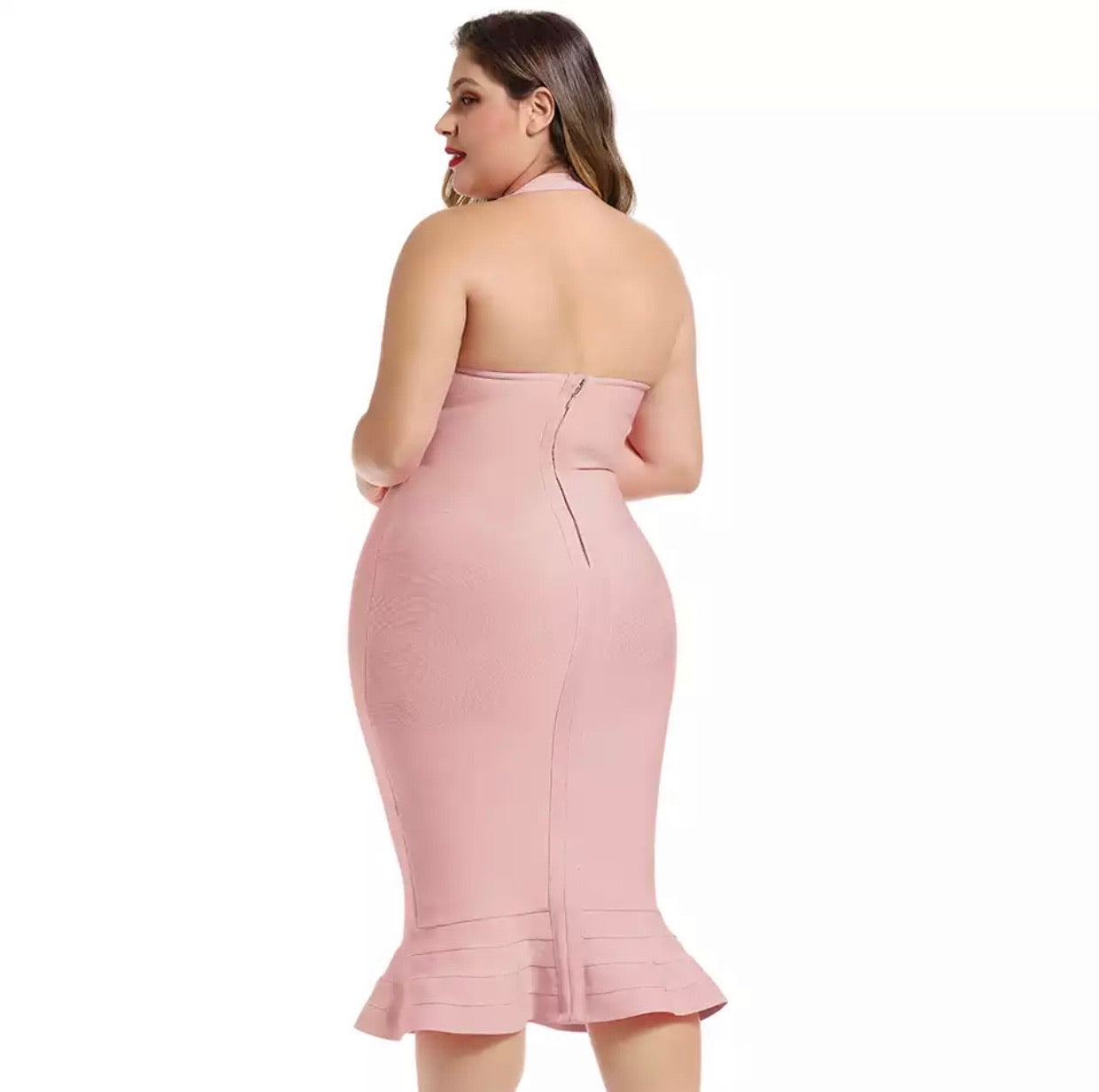 Phoebe Flared Bandage Dress Plus Size
