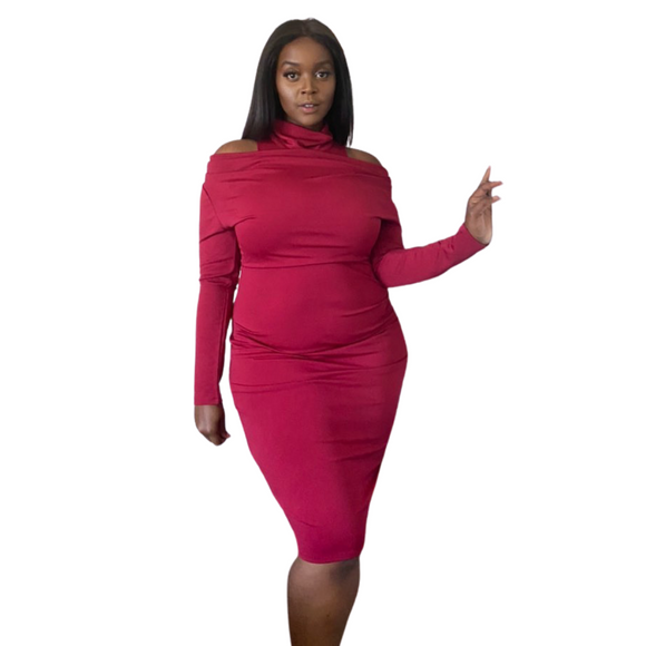 Nadia High Neck Dress