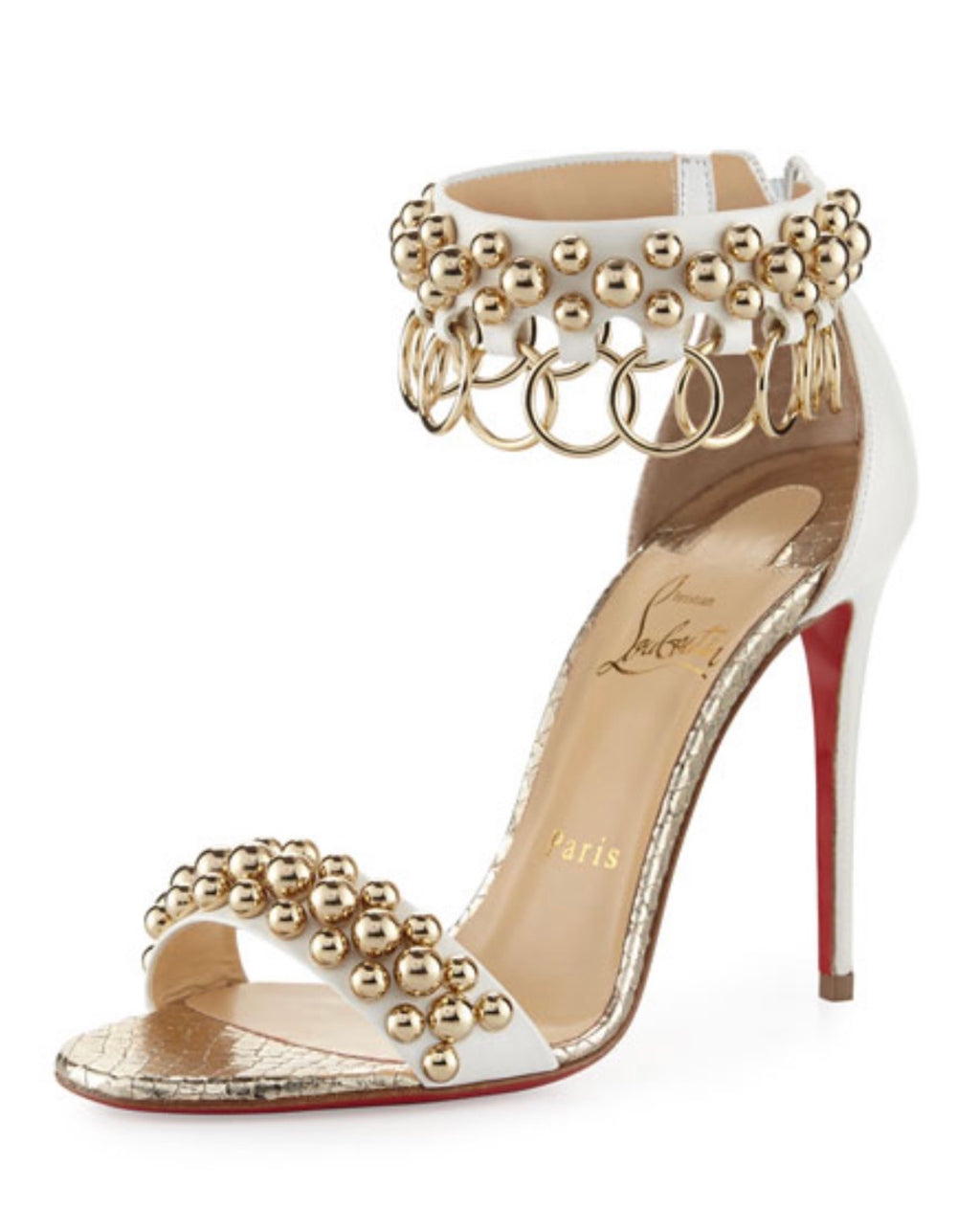 Christian Louboutin Gypsandal 100 Ring Pump