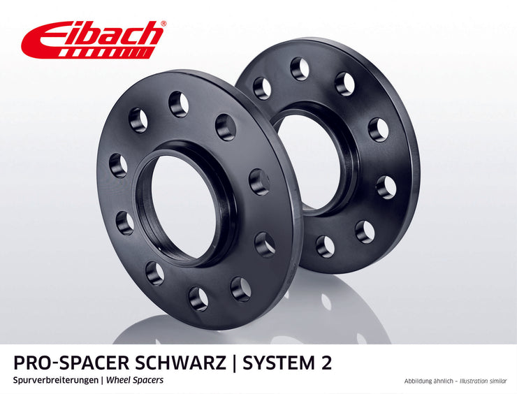 Eibach Pro-Spacer Kit (Pair Of Spacers) 10mm Per Spacer Black