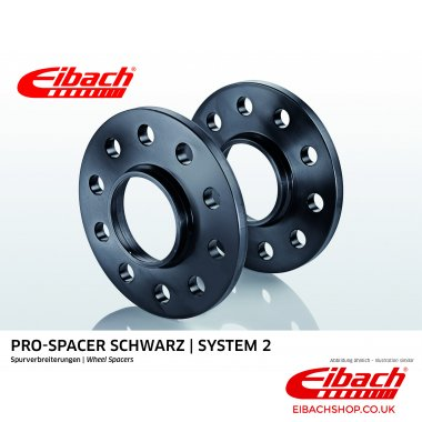 Eibach Pro-Spacer Kit (Pair Of Spacers) 12mm Per Spacer Black