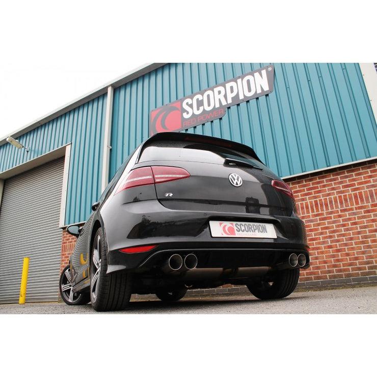 MK7 Golf R (pre facelift) Resonated Cat Back system with Valves