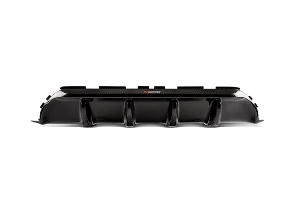 AKRAPOVIC BMW M5 (F90) HIGH GLOSS CARBON FIBER REAR DIFFUSER - RED & WHITE LOGO