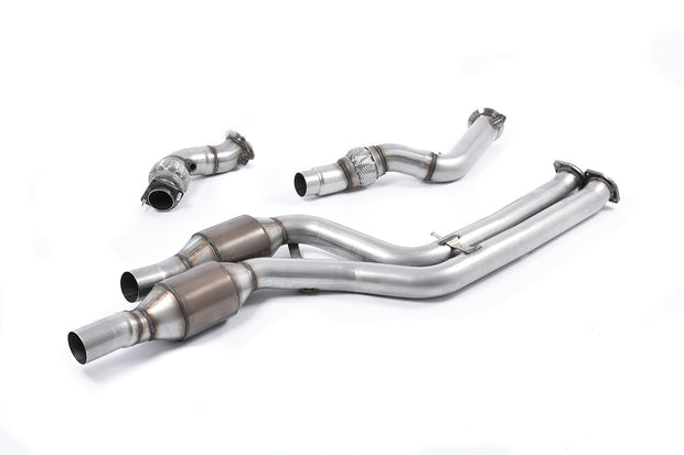 + Milltek Sport - BMW M3 F80 Saloon & M3 Competition Saloon 2014  Largebore Downpipes & Hi Flow Sports Cats Exhaust