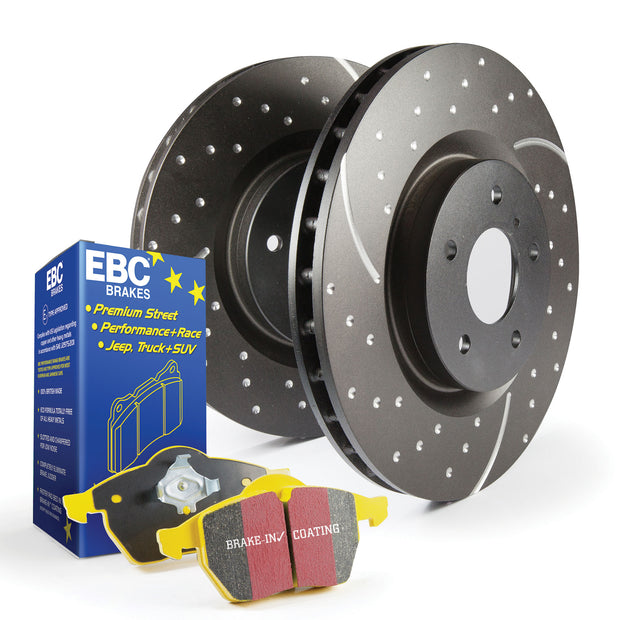 EBC Yellowstuff Front Pad & Turbo Groove Disc Kit | Audi TT MK2