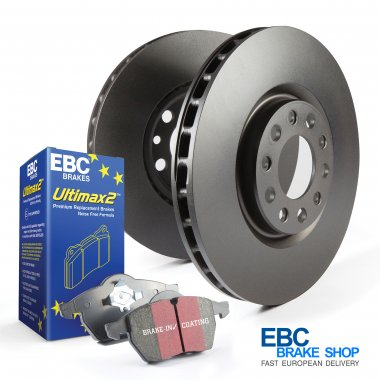EBC Ultimax Pad & Plain Disc Kit | Audi TT MK2